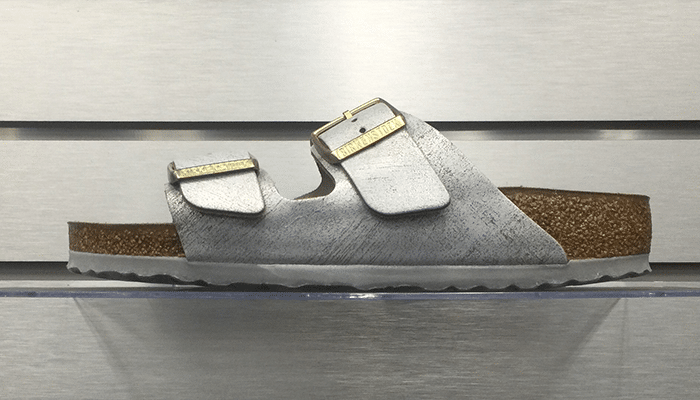 Birkenstock Arizona BS Washed Metallic Blue Silver